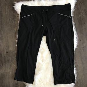 Athleta Black Cropped Lounge Pants Size 1X